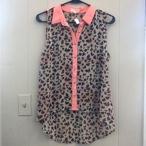 Cheetah print button up